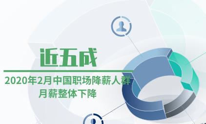 企业薪资数据分析:2020年2月中国近五成职场降薪人群月薪整体下降
