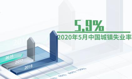 就业数据分析:2020年5月中国城镇失业率为5.9%