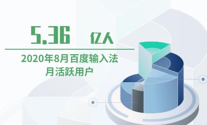 输入法行业数据分析:2020年8月百度输入法月活跃用户为5.36亿人
