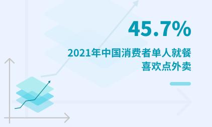 一人食经济数据分析:2021年中国45.7%消费者单人就餐喜欢点外卖