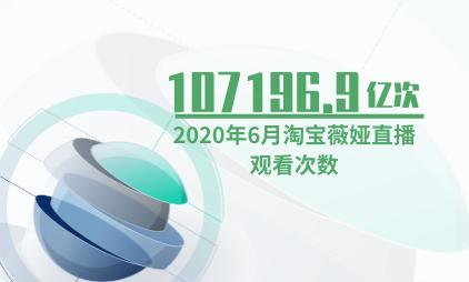直播电商行业数据分析:2020年6月淘宝薇娅直播观看次数达107196.9亿次