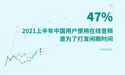 音频行业数据分析:2021上半年中国47%用户使用在线音频是为了打发闲暇时间
