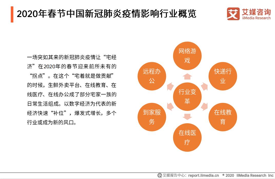 2020年春节中国新冠肺炎疫情影响行业概览