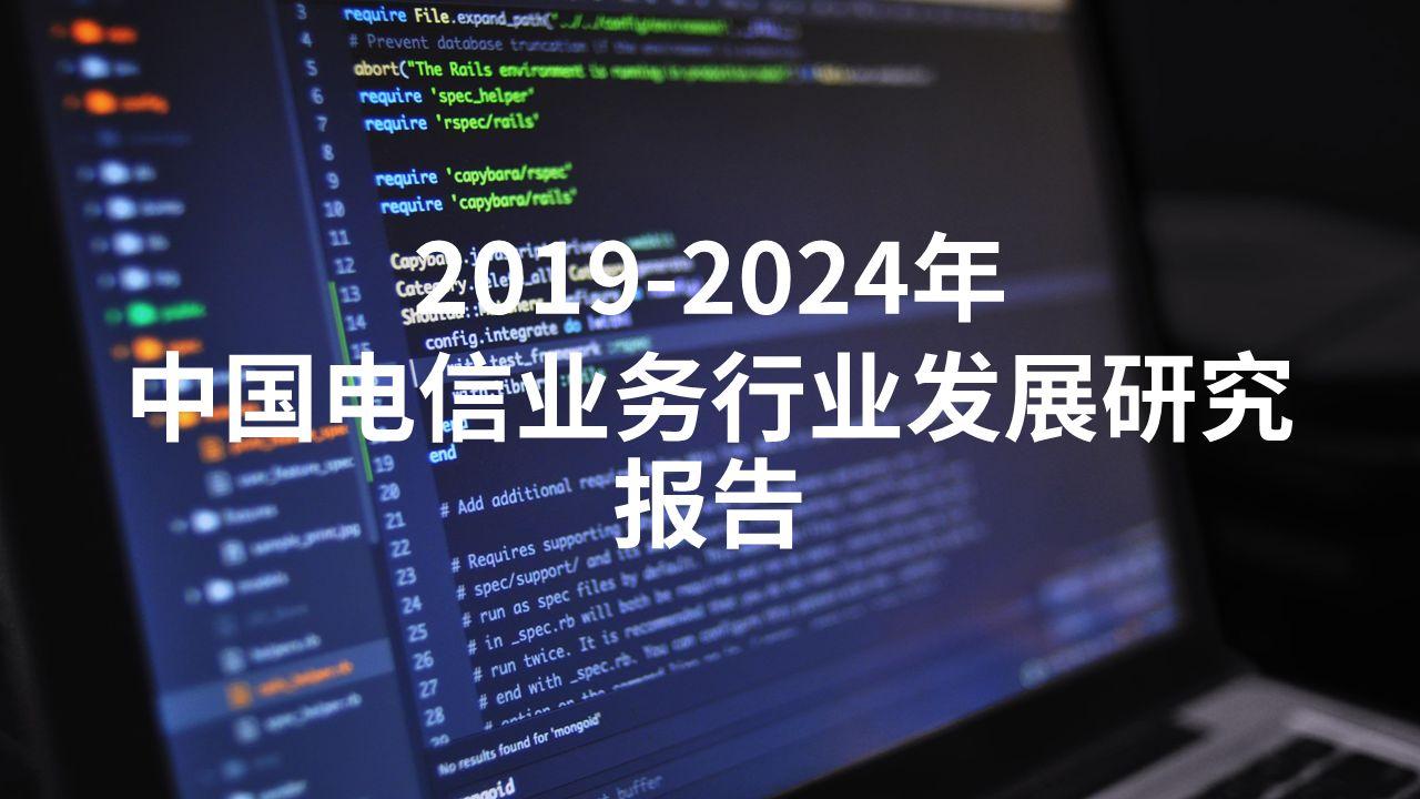 2019-2024年中国电信业务行业发展研究报告