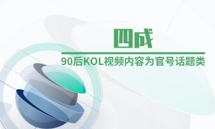 短视频行业数据分析:四成90后KOL视频内容为官号话题类