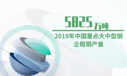 钢材行业数据分析:2019年中国重点大中型钢企粗钢产量为5825万吨