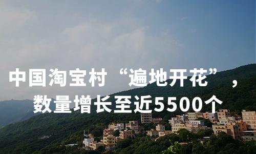 """中国淘宝村""""遍地开花"""",数量增长至近5500个"""