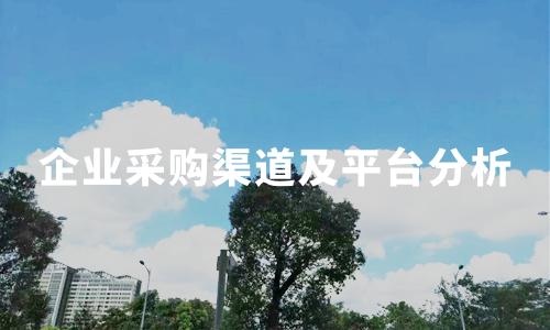 2019年中国企业采购渠道、考虑因素及采购平台情况分析
