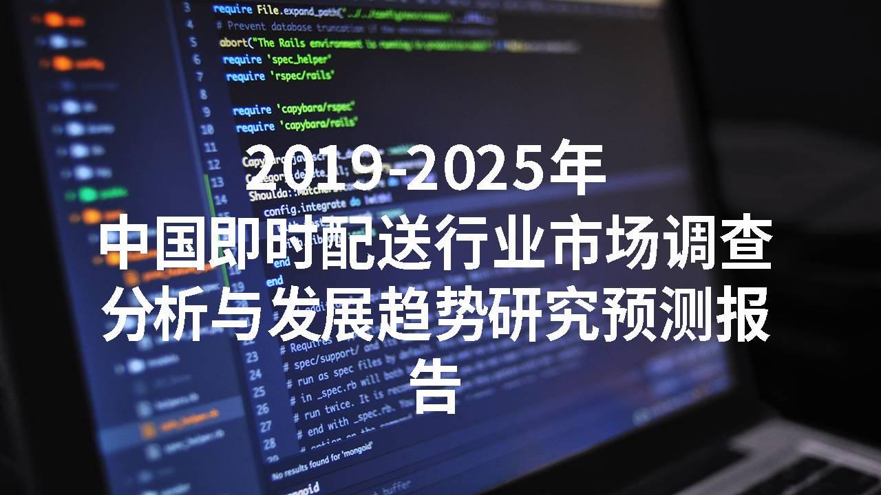 2019-2025年中国即时配送行业市场调查分析与发展趋势研究预测报告