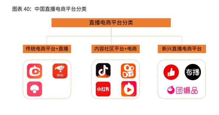 中国直播电商平台分类