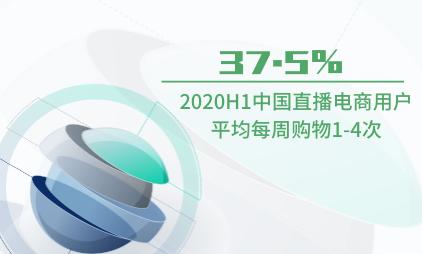 直播电商行业数据分析:2020H1中国37.5%直播电商用户平均每周购物1-4次