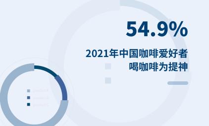 咖啡行业数据分析:2021年中国54.9%咖啡爱好者喝咖啡为提神