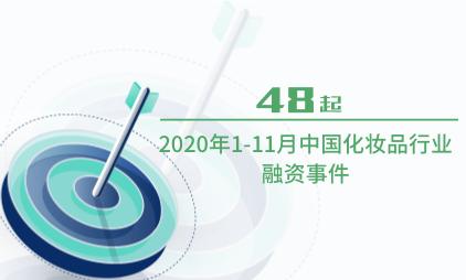 化妆品行业数据分析:2020年1-11月中国化妆品行业融资事件为48起