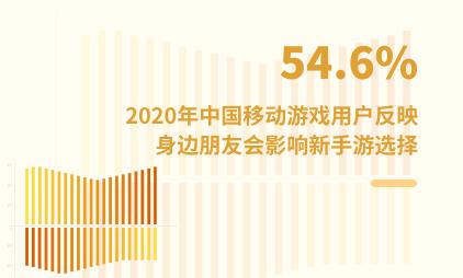游戏行业数据分析:2020年中国54.6%移动游戏用户反映身边朋友会影响新手游选择