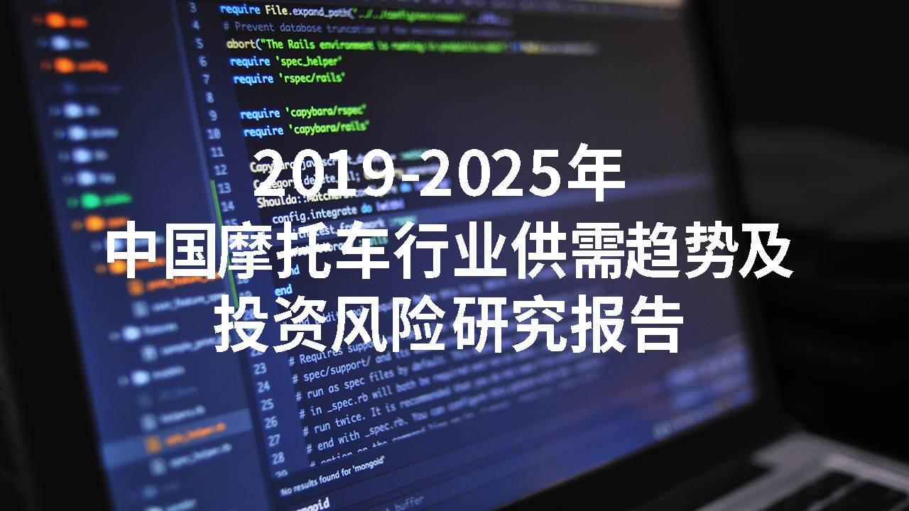 2019-2025年中国摩托车行业供需趋势及投资风险研究报告