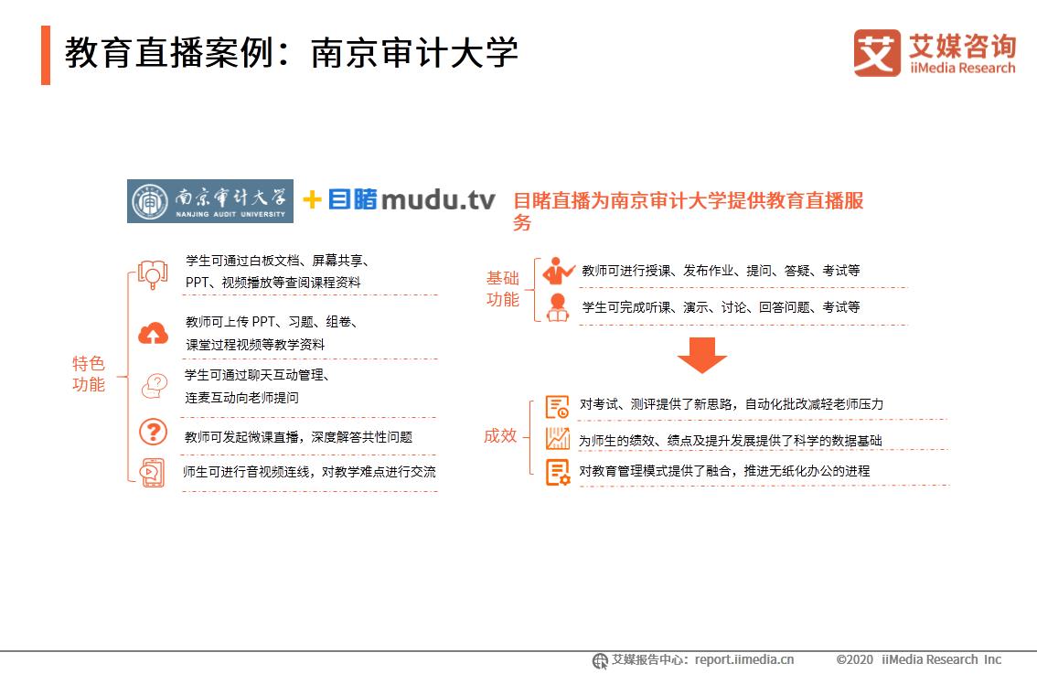 教育直播案例:南京审计大学