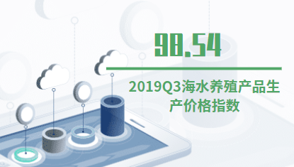 海水养殖业行业数据分析:2019Q3海水养殖产品生产价格指数为98.54