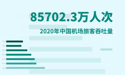 交通运输行业数据分析:2020年中国机场旅客吞吐量为85702.3万人次