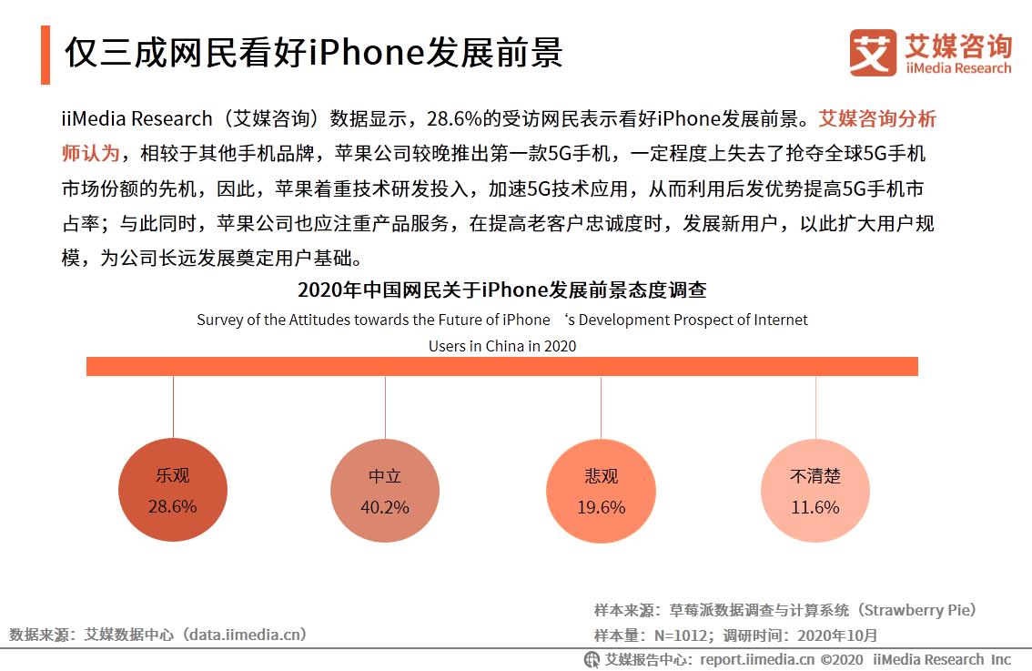 仅三成网民看好iPhone发展前景