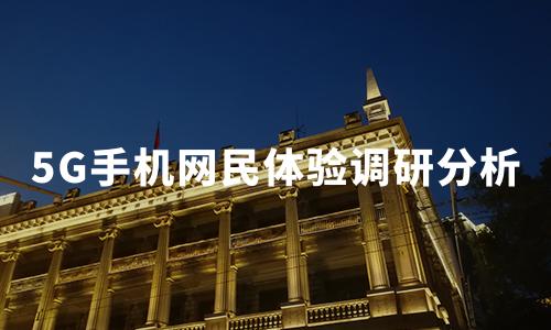 2020年中国5G手机网民体验调研分析