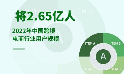 跨境电商行业数据分析:2022年中国跨境电商行业用户规模将达2.65亿人
