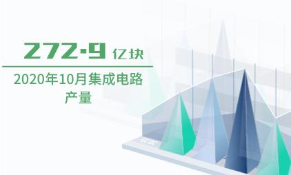 集成电路行业数据分析:2020年10月集成电路产量为272.9亿块
