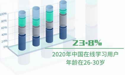 在线学习行业数据分析:2020年中国23.8%在线学习用户年龄在26-30岁