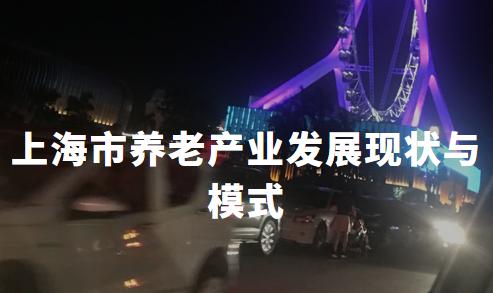 2020上海市养老产业发展现状与模式分析