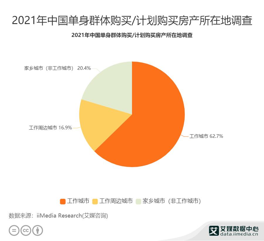 2021年中国单身群体购买_计划购买房产所在地调查