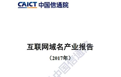 中国信通院-2017年互联网域名产业报告