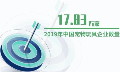 宠物行业数据分析:2019年中国宠物玩具企业数量为17.83万家