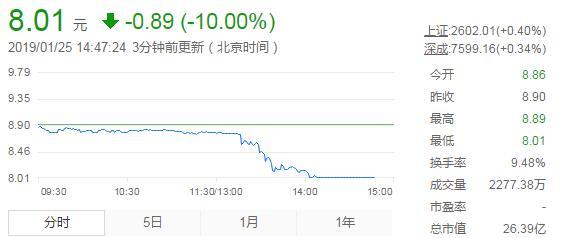 被北京法院列入系列执行人名单,暴风集团股票午后跌停