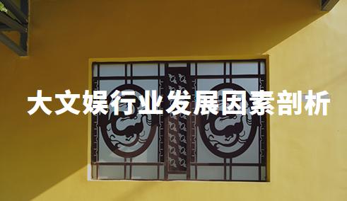 2020中国大文娱行业发展因素剖析