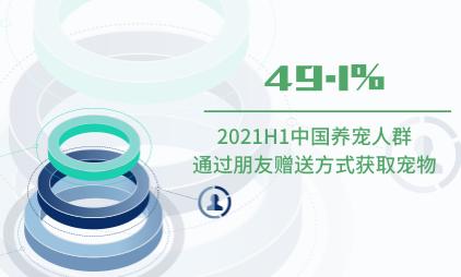宠物经济数据分析:2021H1中国49.1%养宠人群通过朋友赠送方式获取宠物