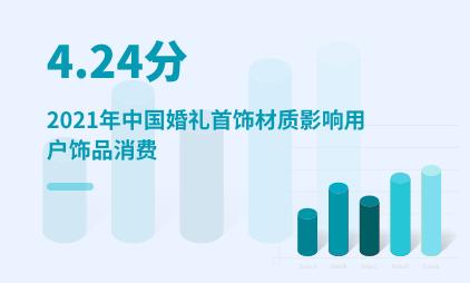 婚庆行业数据分析:2021年中国婚礼首饰材质影响用户饰品消费的评分为4.24分