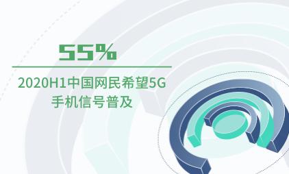 手机行业数据分析:2020H1中国55%网民希望5G手机信号普及