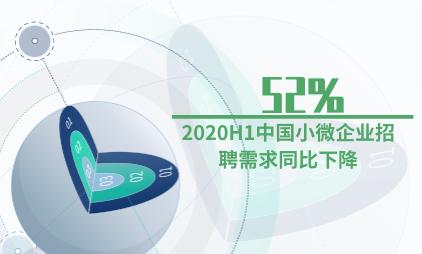 招聘行业数据分析:2020H1中国小微企业招聘需求同比下降52%