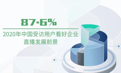直播行业数据分析:2020年中国87.6%受访用户看好企业直播发展前景