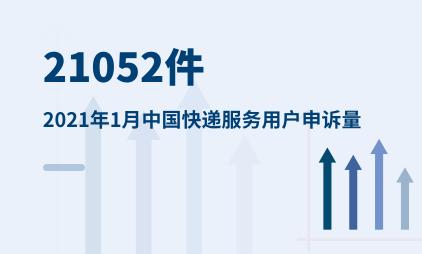 快递物流行业数据分析:2021年1月中国快递服务用户申诉量达21052件