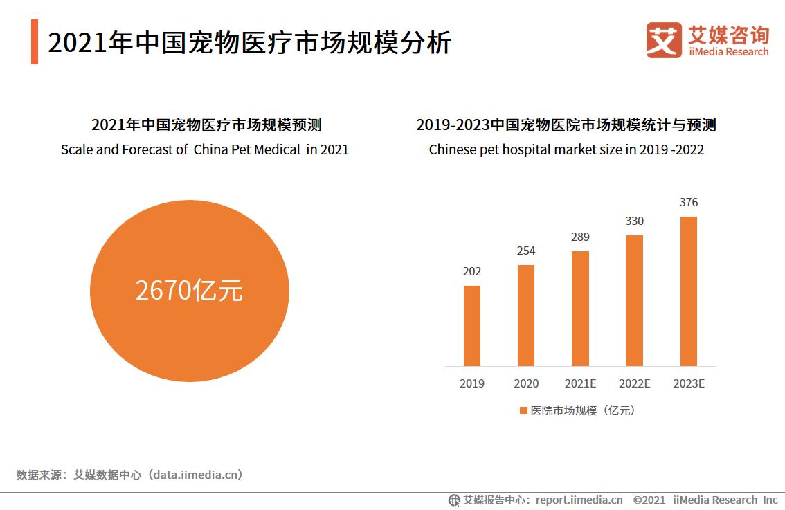 2021年中国宠物医疗市场规模分析