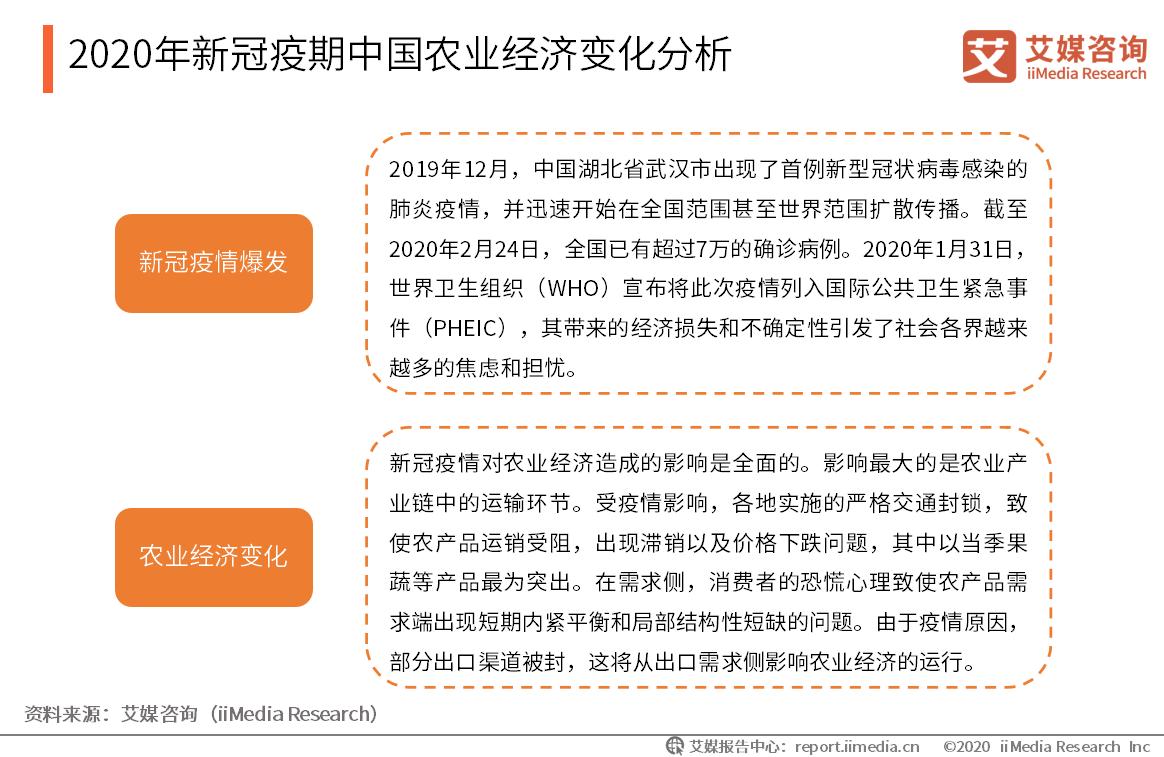 2020年新冠疫期中国农业经济变化分析