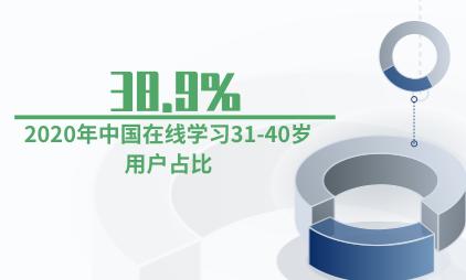 知识付费数据:2020年中国在线学习31-40岁用户占38.9%