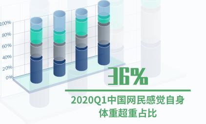 瘦身行业数据分析:2020Q1中国网民感觉自身体重超重占比达36%