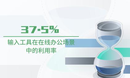 手机输入法行业数据分析:输入工具在在线办公场景中的利用率为37.5%