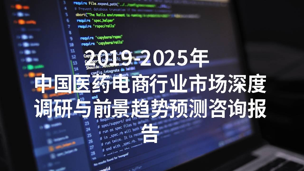 2019-2025年中国医药电商行业市场深度调研与前景趋势预测咨询报告