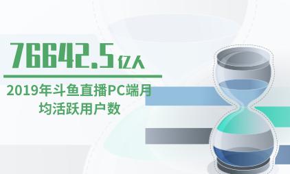 在线直播行业数据分析:2019年斗鱼直播PC端月均活跃用户数达76642.5万人