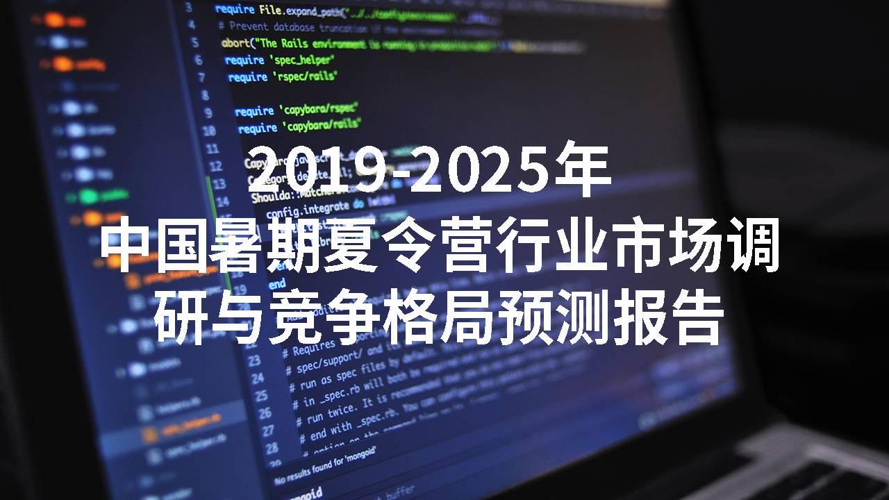2019-2025年中国暑期夏令营行业市场调研与竞争格局预测报告