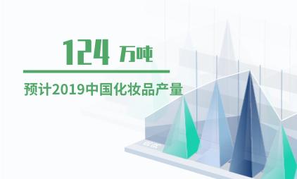 化妆品行业数据分析:2019年中国化妆品产量预计将达124万吨