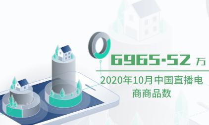直播电商行业数据分析:2020年10月中国直播电商商品数为6965.52万