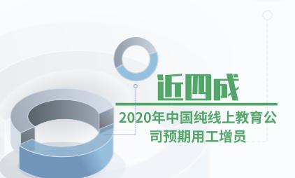 教培行业数据分析:2020年中国近四成纯线上教育公司预期用工增员